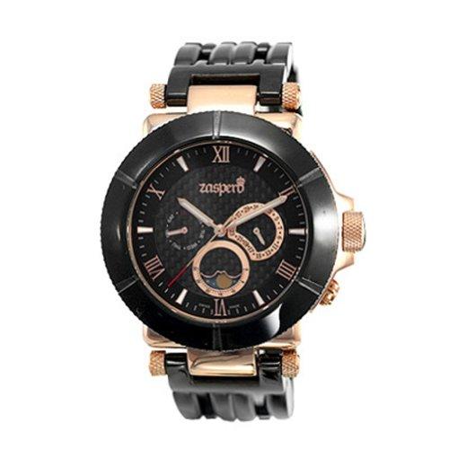 [ Zaspero ] New Black Stainless-Steel Men'S Wristwatch Black Mg301-11