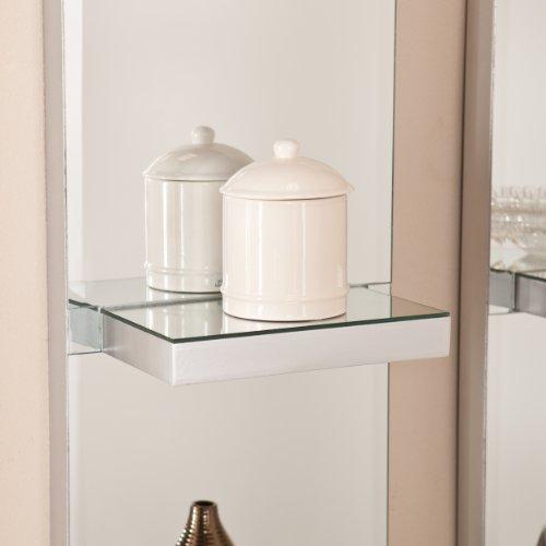 Southern Enterprises 2-Piece Kipton Mirrored Wall Shelf Set