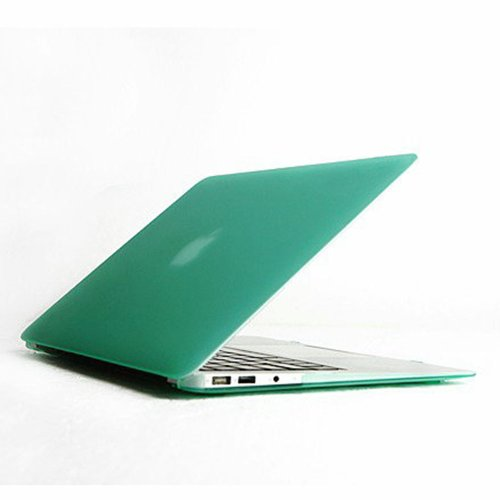 Mkt Rubberized Hard Shell Clip Snap On Matte Rubber Coated Cover For Macbook (13.3 Inch Air, Aqua) front-84572