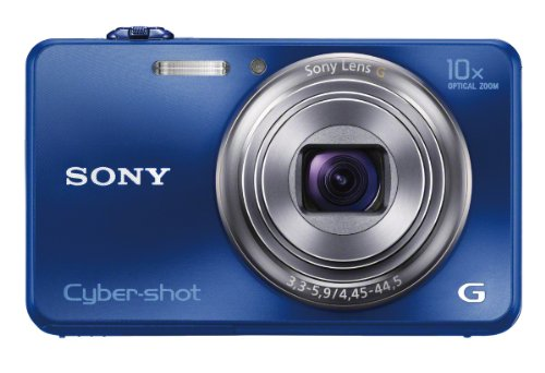 Sony Cyber-shot DSC-WX150 18.2 MP Exmor R CMOS Digital Camera with 10x Optical Zoom and 3.0-inch LCD (Blue) (2012 Model)