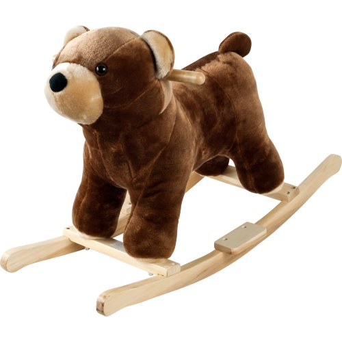 Happy Trails Plush Rocking Barry Bear With Sounds - Brown - 1