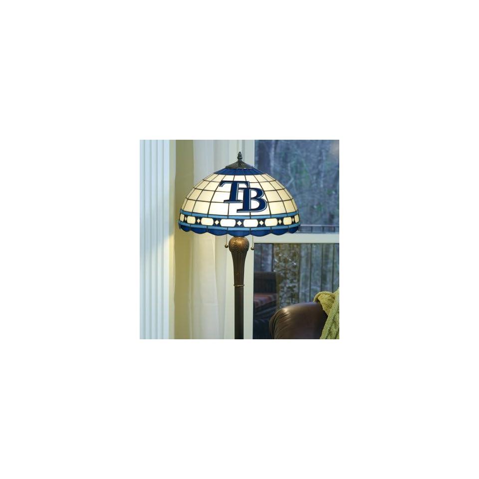 MLB Tampa Bay Rays Baseball Logo Tiffany Style Floor Lamp