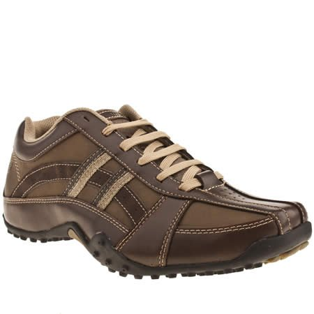Skechers Urban Track Browser - 7 Uk - Dark Brown - Leather