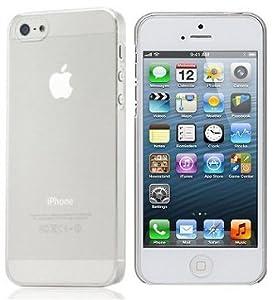 itronik® 0,35mm Ultra Slim flacher Bumper - die dünnste flexible Schutzhülle für Apple iPhone 5 5S - Bumpers Case Hülle Schale Schutz Tasche - weiss transparent durchsichtig