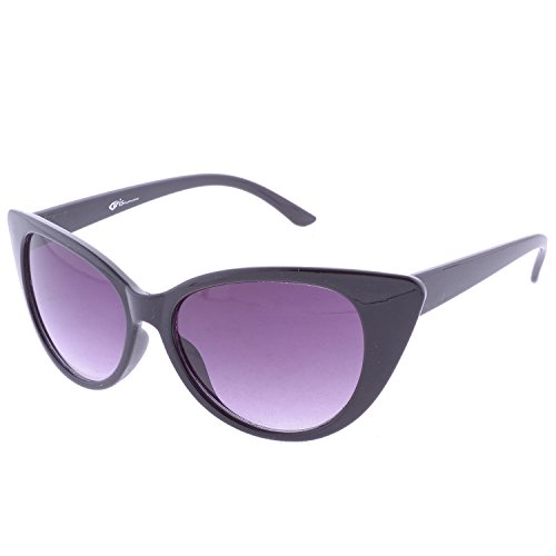 Iris Iris Cateye Black Sunglasses(Ie271-Black-Frame)