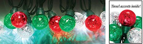 Holiday Led Tinsel Globe Lights
