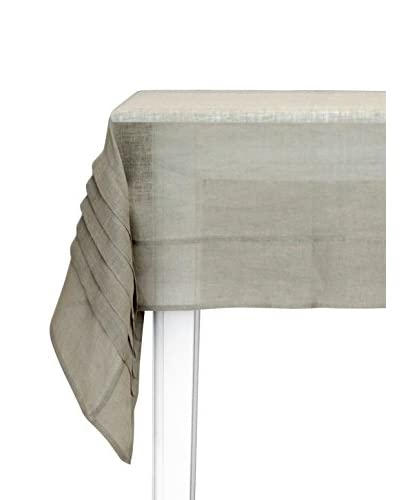 Lene Bjerre Linea Moss Grey Tablecloth with Pleats