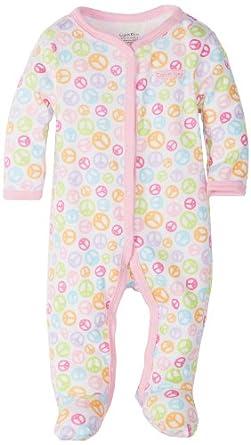 Calvin Klein Baby-Girls Newborn Coverall, Pink/Gray, 3-6 Months