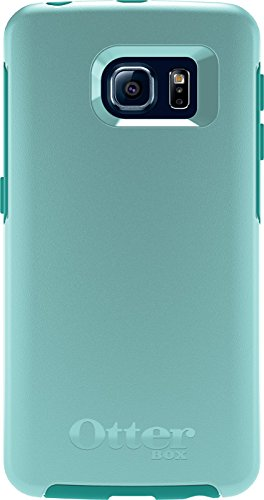 OtterBox SYMMETRY SERIES Case for Samsung Galaxy S6 EDGE - Retail Packaging - AQUA SKY (AQUA BLUE/LIGHT TEAL) (Otterbox For Samsung Note Edge compare prices)