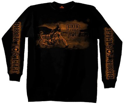 Hot Leathers Coolin' Long Sleeve T-Shirt (Black, XXX-Large)