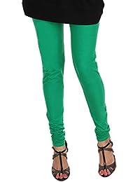 ITNOL Cotton Lycra Leggings (Pack Of 3 ): Navy Blue / Beige / Parrot Green
