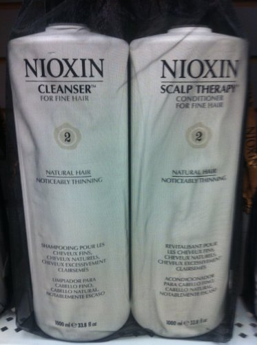 Nioxin System 2 Cleanser & Scalp Therapy DUO (33.8 Oz)