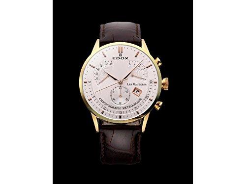 Edox Les Vauberts reloj hombre cronógrafo Retrograde 01505 37R AIR