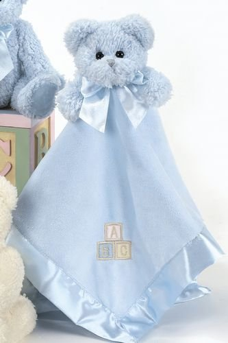 Blue Teddy Bear Hugs and Blankie by Bearington - Baby Boy Gift