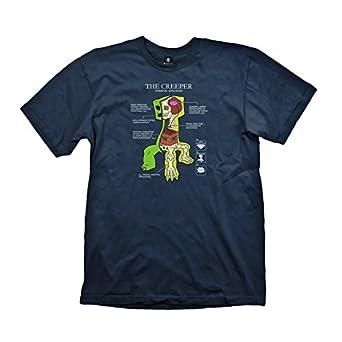 Minecraft Creeper Anatomy T-Shirt (XXL)