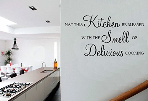 May This Kitchen Be Blessed Delicious Cooking Quote Vinyl Wall Art Sticker Decal