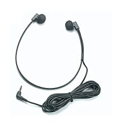 Spectra 3.5mm Lightweight Computer Headset with 10 Foot Cord and Right-Angle Plug