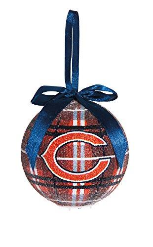 100Mm Led Ball Ornament, Chicago Bears