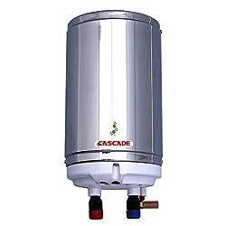CASCADE Silver Shower 1 Ltr 4.5 Kw Instant Cum Storage Water Heater