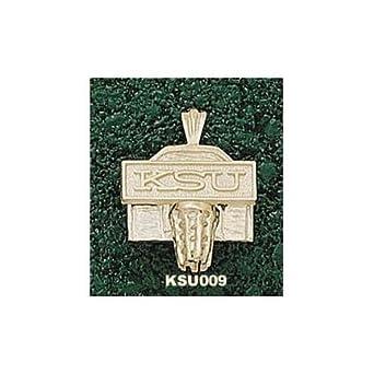 Kansas State Wildcats KSU Basketball Backboard Pendant - 14KT Gold Jewelry by Logo Art