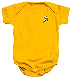 Infant: Star Trek- Command Uniform Infant Onesie Size 12 Mos