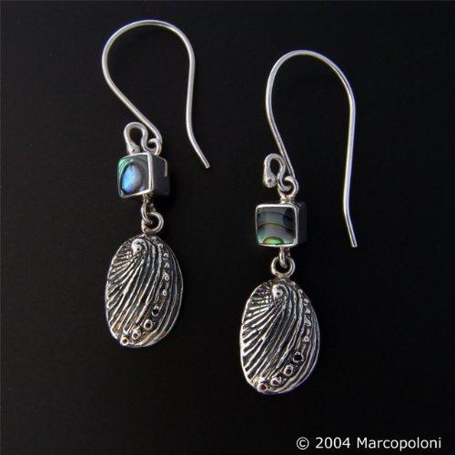 Baby Paua (Abalone) Shell Hook Earrings