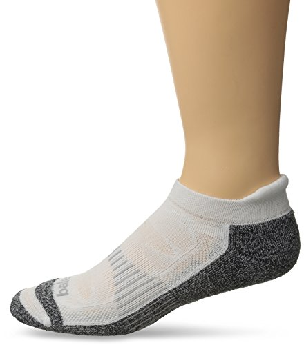 Balega Blister Resist No Show Socks, White, Large