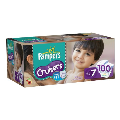 Pampers Cruisers Diapers Size 7 Economy Pack Plus, 100 ...