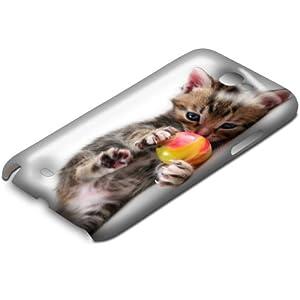 Chats 10001, Chatons, 3D Design Gloss Coque Arriere Rigide Coquille Housse Case Cover Shell avec Dessin Coloré pour Samsung Note 2 N7100.