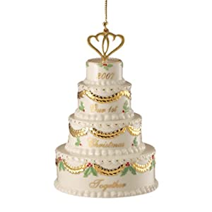 #!Cheap Lenox 2007 Our First Christmas Together - Cake