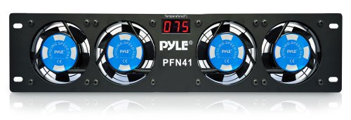 """Pyle-Pro Pfn41 19"""" Rack Mount Cooling Fan System W/Temperature Display front-828757"""