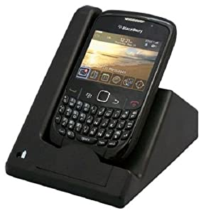 C&E CNE96223 USB Sync and 2nd Battery Charge Cradle for BlackBerry Curve 3G 8520/8530 - Non-Retail Packaging - Black
