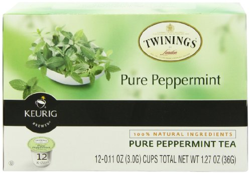 Twinings Pure Peppermint Tea K-Cup, 12 Count
