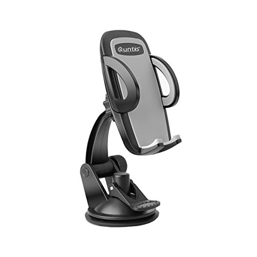 Universal Car Mount ,Quntis(TM) Windshield Dashboard Car Holder Cradle for iphone 6 6 plus 5 5s 5c 4 4s, Android Samsung Galaxy S5,S4,S3, Note3 and More (Black) (Samsung S4 Car Windshield Mount compare prices)