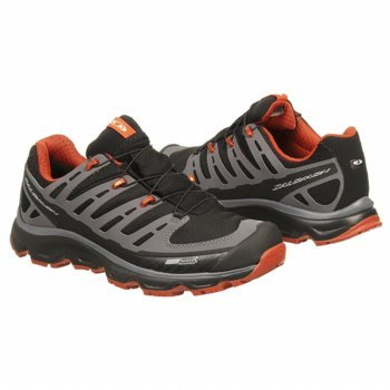 Salomon Salomon Men's Synapse CS Trail Running Shoe,Black/Dark Cloud/Moab Orange,8.5 M US
