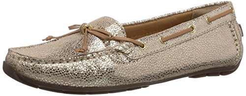 Clarks Dunbar Groove, Mocassini donna, Oro (Gold (Gold Leather)), 38