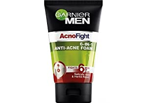 GARNIER MEN ACNOFIGHT 6 IN 1 ANTI-ACNE FACIAL FOAM 100ml (3.52oz)