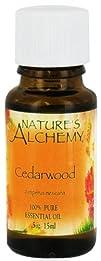 Natures Alchemy  100 Pure Essential Oil Cedarwood  0.5 oz.