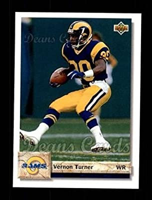 1992 Upper Deck # 537 Vernon Turner Los Angeles Rams (Football Card) Dean's Cards 8 - NM/MT