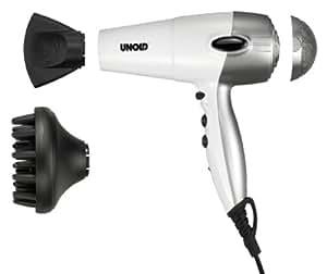 Unold 87145 Professional 1800 - Secador de pelo (1800 W), color blanco y plateado