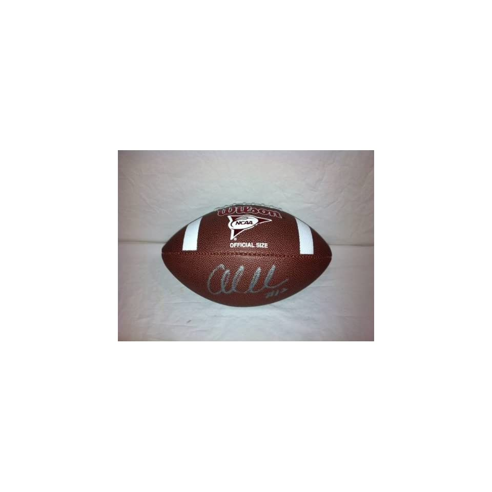 Andrew Luck Autograph Hand Signed Ncaa Football   Stanford   NFL #1
