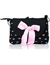 Pick Pocket Pink Bow Black Sling Bag