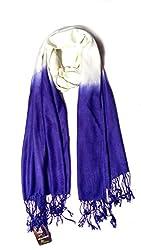 Anuze Fashions Tie Dye Purple & White Coloured Design Stole