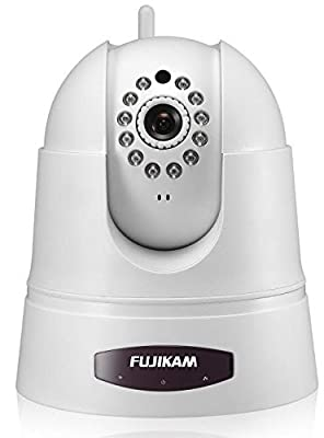 Fujikam FI-360W HD Wireless Cloud IP/Network Video Monitoring Surveillance security camera Pan & Tilt with Two-Way Audio and Night Vision plug and play
