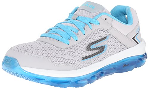 Skechers Performance Women's Go Air Walking Shoe, Light Gray/Blue, 8.5 M US