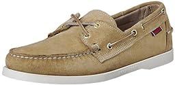 Sebago Men\'s Docksides Boat Shoe,Sand Suede,13 W US