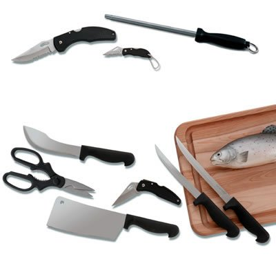 Maxam® 10-Piece Sportsman Knife Set In Case