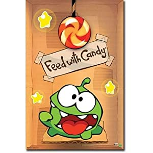 (22x34) Cut the Rope - Om Nom Video Game Poster