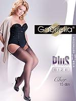 Gabriella Femmes Bas pour Porte-Jaretelles Plus Size GB-166 15 DEN 5/6 (46-54)