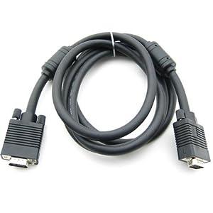 VGA-Monitor Ersatz svga mm 15-Pin-Kabel schwarz 1.8m
